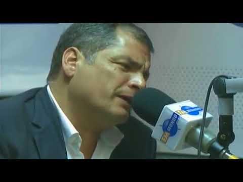 Entrevista  a  Rafael Correa al país en radio  FM Mundo