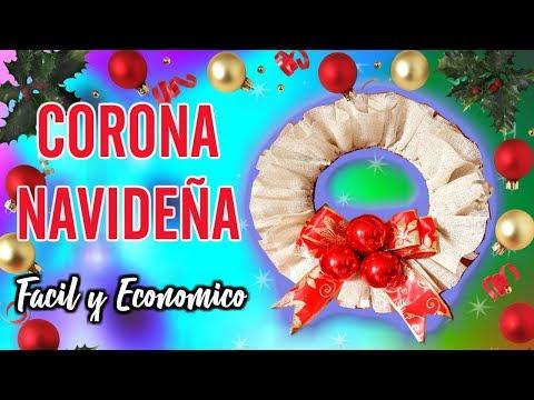 DIY: CORONA NAVIDEÑA DE YUTE🎄DECORACIONES NAVIDEÑAS FACIL Y ECONOMICO🎄maglambymaleisa