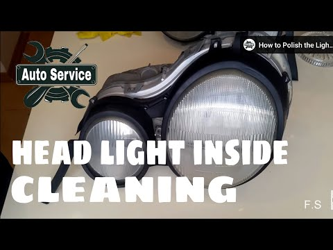 Mercedes w210 led headlights cleaning ways from inside of headlight