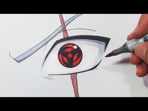 How to Draw Itachi Sharingan, Step by Step, Naruto ... |Itachi Mangekyou Sharingan Drawing