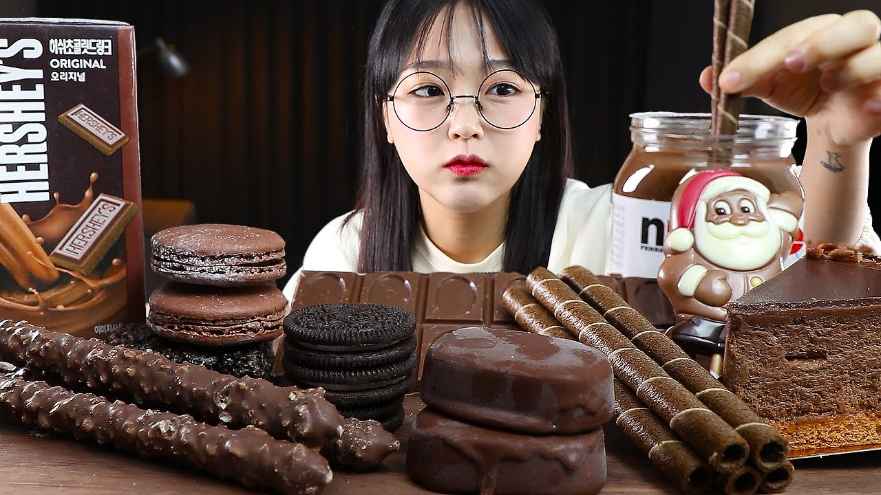 ASMR YEMEK ÇİKOLATALI TATLILAR🍫 | CHOCOLATE MUKBANG | EATING SHOW