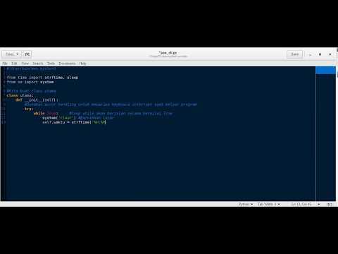 [Python 3] Membuat Jam Sederhana (CLI)