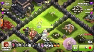 Clash of Clans Attacks! - GLITCH: AQ HATES JUMP SPELLS