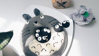 Cách làm bánh chiffon tinh than tre Totoro | My Neighbor Totoro chiffon cake | Nhi Chan