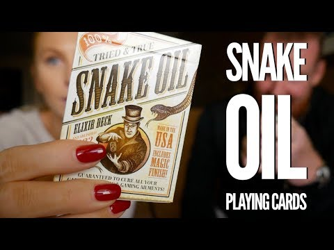 Snake Oil Playing Cards - Deck Review By Caroline Ravn
