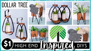 DOLLAR TREE DIY   HIGH END Inspired   Modern Farmhouse Boho Metal Look Home Décor   Wood Trim Boxes