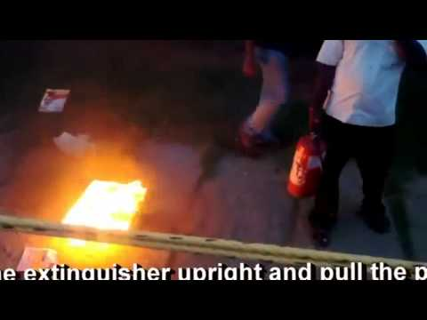 Demonstration Of Dry Chemical Powder DCP Fire Extinguisher