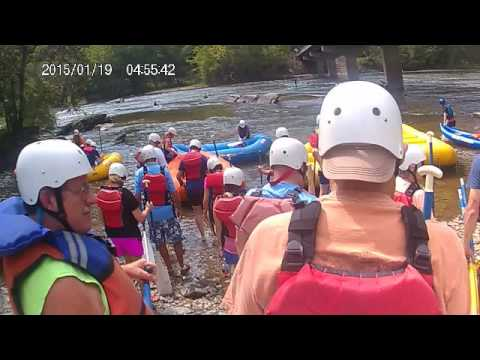 White water rafting. Blue Heron. Marshall NC. French Broad River. Video 1 of 2