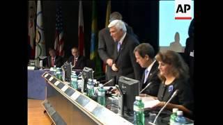 Chicago 2016 delegates arrive to give presentation ADDS meeting, Tokyo delegates