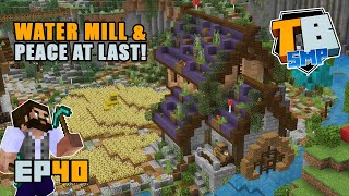 MEDIEVAL WATER MILL | Truly Bedrock Season 2 [40] Minecraft Bedrock SMP