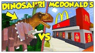 I DINOSAURI ATTACCANO IL NOSTRO MCDONALD'S! - Minecraft ITA