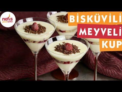 Bisküvili Meyveli Kup - Sütlü Tatlı Tarifleri - Nefis Yemek Tarifleri