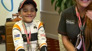 British GP | McLaren Mascot with Hilton