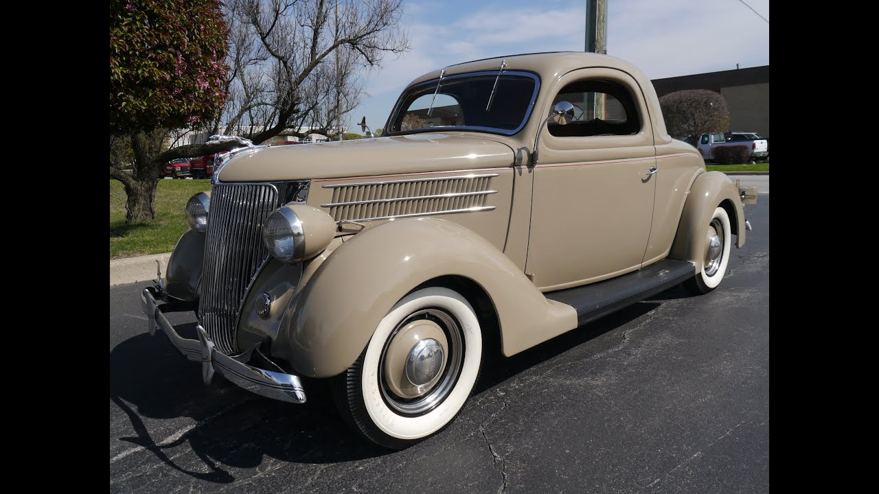 1936 ford 3 window coupe deluxe coupe for sale youtube for 1936 ford 3 window