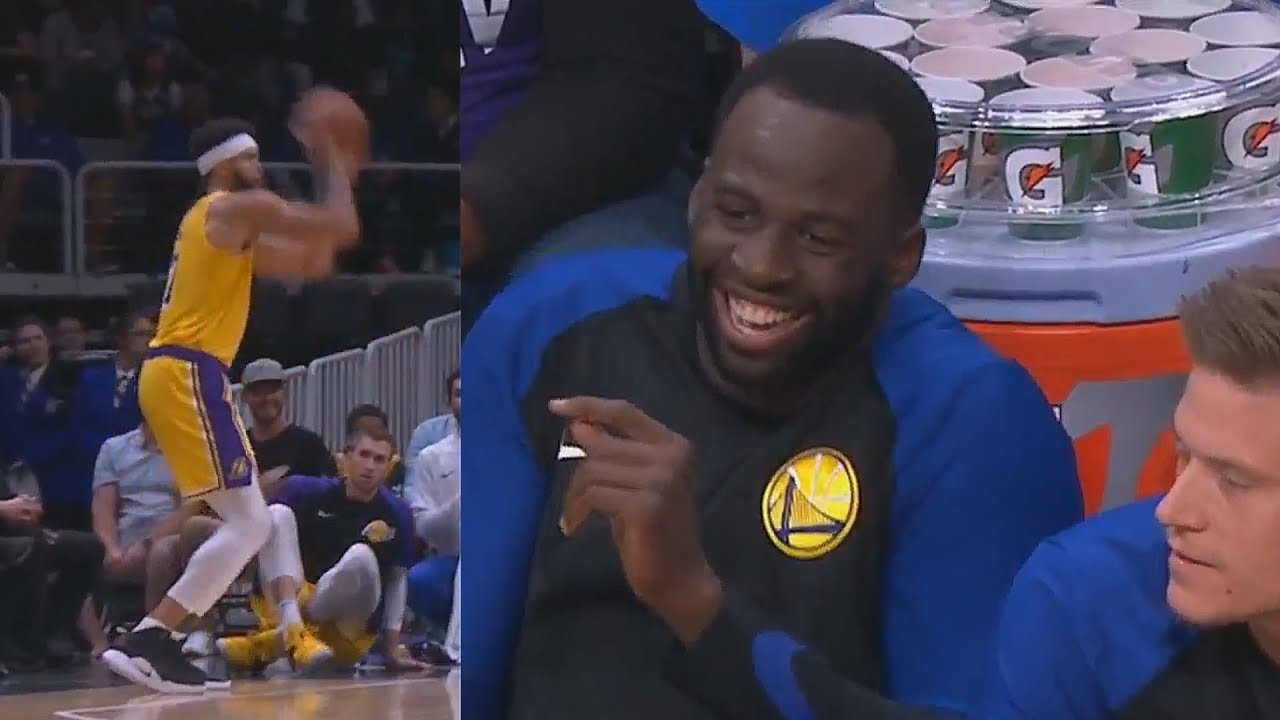 draymond-green-mocks-javale-mcgee-after-he-hits-a-3-pointer