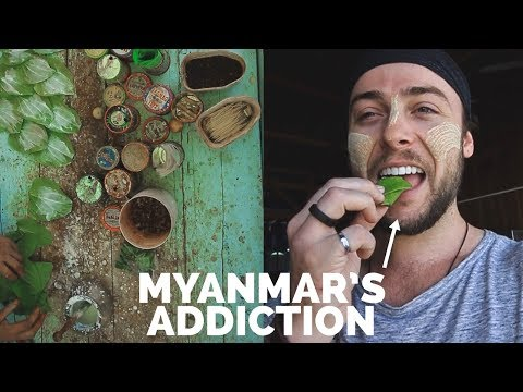 Myanmar's Addiction : Trying Kwun-ya 🇲🇲 Myanmar Travel