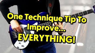 One Bass Technique Tip To Improve Speed, Stamina, Tone...Everything!