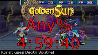 Golden Sun: The Lost Age Any% speedrun in 4:59:40 [Current World Record]