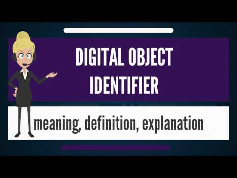 What is DIGITAL OBJECT IDENTIFIER? What does DIGITAL OBJECT IDENTIFIER mean?