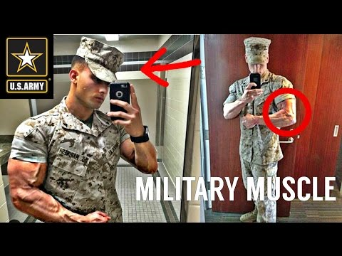 Army Strong Muscle Madness Military Workout Motivation
