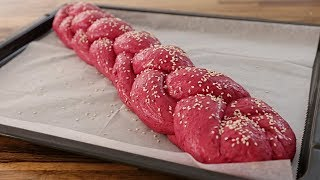 Beetroot Challah Bread Recipe