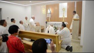 Bendición custodia y capilla adoración perpetua - 13 de junio 2019