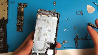 iPhone 5 - Замена кнопки включения, вибро и кнопок громкости
