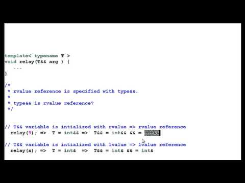 C++ 11: Rvalue Reference - Perfect Fowarding