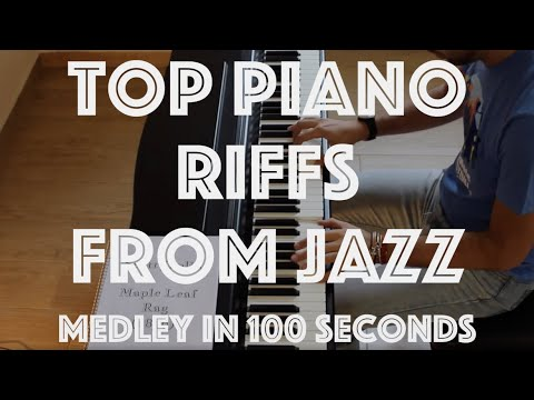 Top Piano Riffs from Jazz - Medley in 100 seconds - 2/5