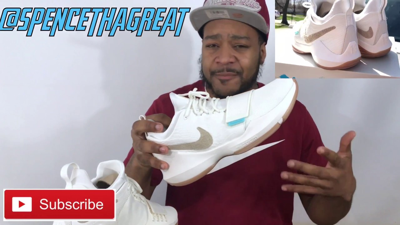 NIKE PG1 IVORY ON FEET VIEW AND REVIEW - YouTube 4b0939a84