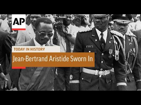 Jean-Bertrand Aristide Sworn In - 1991 | Today In History | 7 Feb 17