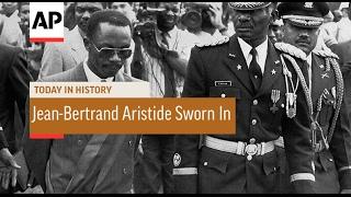 Gambar cover Jean-Bertrand Aristide Sworn In - 1991 | Today In History | 7 Feb 17