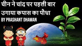 China Sprouts First seed on the Moon चीन ने चांद पर पहली बार उगाया कपास का पौधा