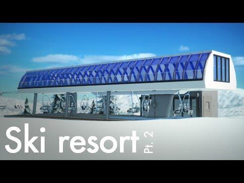 Planet Coaster - Ski Resort (Part 2) - Gondola & UNI-G Station