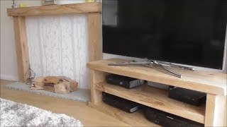 Solid Oak Sleeper TV Stand Build for under £60