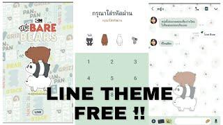 Gambar cover Tema line gratis We bare Bears Limited / Line free theme.