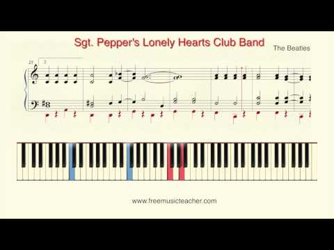 "How To Play Piano: The Beatles ""Sgt Pepper"