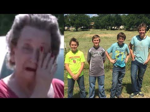 Подростки пробрались на участок к старушке. Узнав причину, она не смогла сдержать слез!