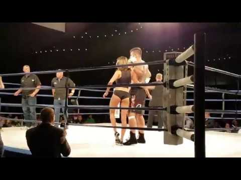 Tim Hague walks off ring after fight with Adam Braidwood