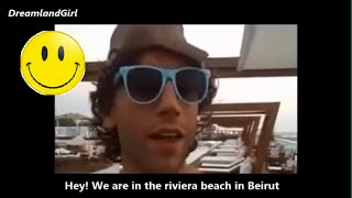 MIKA @ BEACH IN LEBANON (Funny moment | Eng Sub)