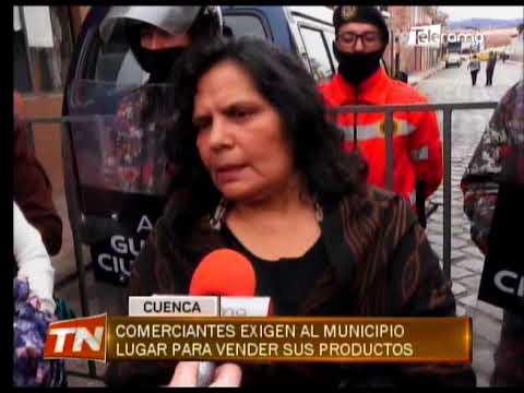 Comerciantes exigen al municipio lugar para vender sus productos