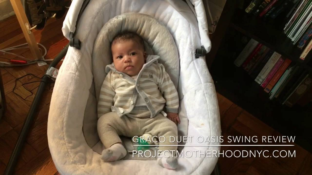 Graco Baby Duet Oasis Swing Review Youtube