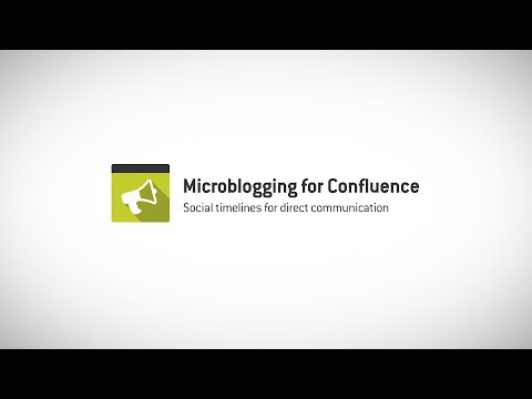 Microblogging for Confluence 3.0 - Social timelines for direct communication