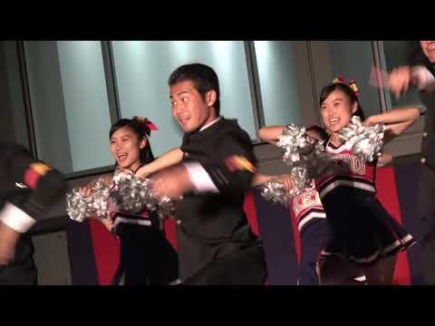 2018春季東京六大学野球 慶應優勝祝賀会 野球部優勝おめでとうSPステージ!盛り上がる応援!