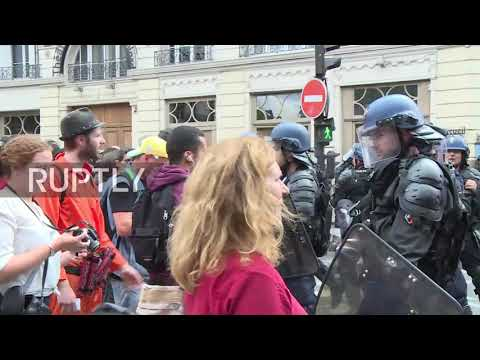 France: Parisians protest against Trump and Macron in Bastille Day march