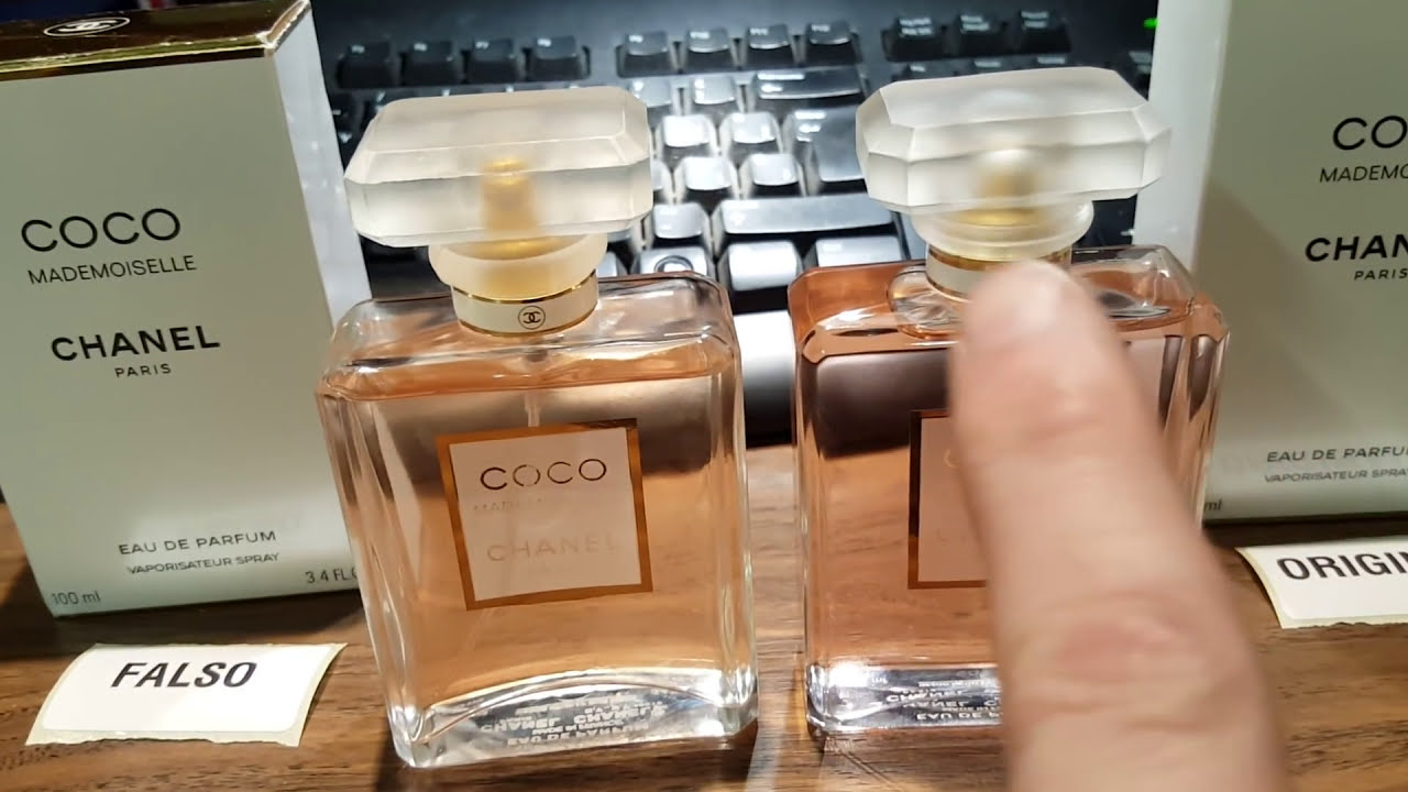 Chanel Coco Mademoiselle Falso Vs Original Youtube