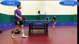 ma long practise with fan zhendong two dragons of china