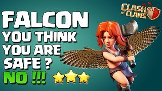 QueenWalk FALCON NEW VALKYRIE ATTACK - THE FALCON ALLOWS TH10's TO 3 STAR ANY BASE | Clash of Clans