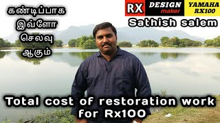 check the restoration cost of rx100..   sathish   sk