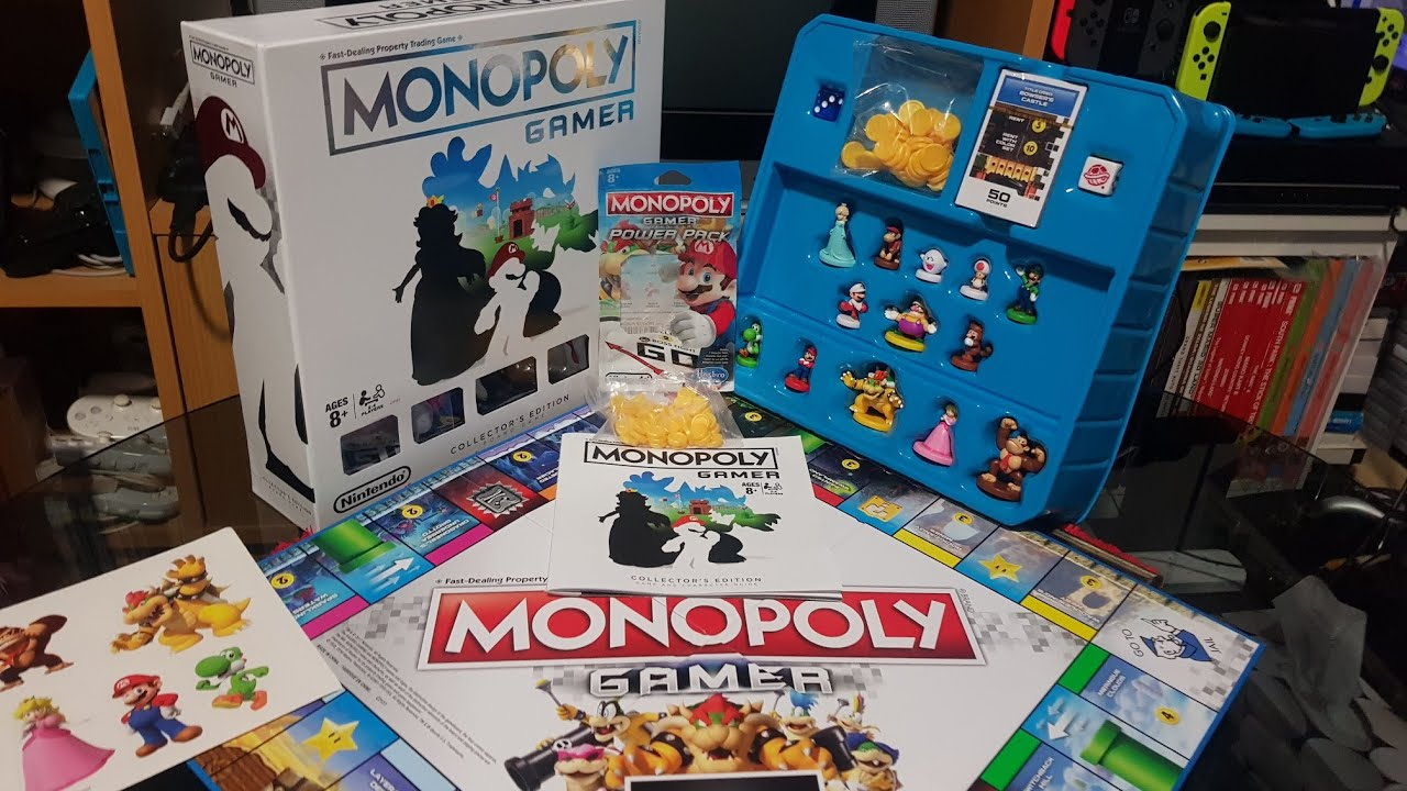 Monopoly Gamer Collectors Edition And Power Packs Unboxing Youtube